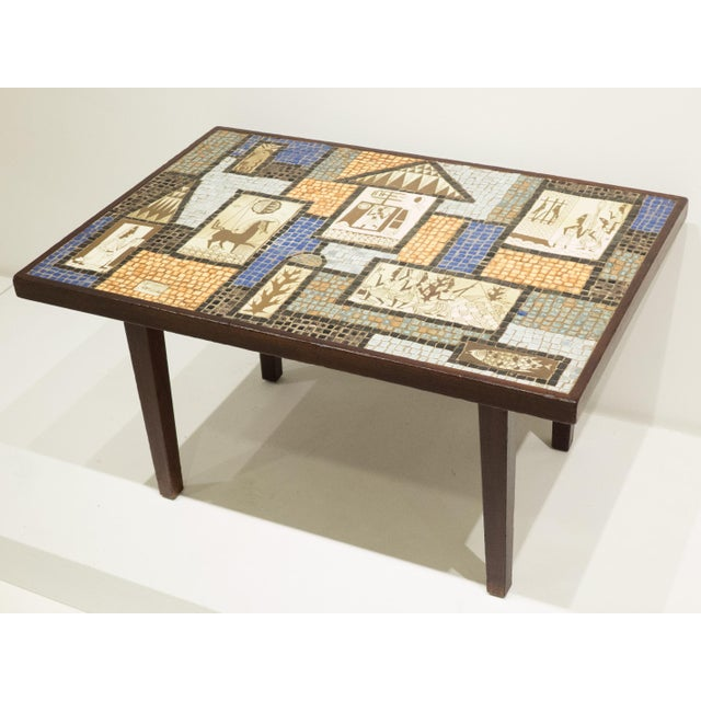 David Holleman Ceramic Mosaic Table - Image 2 of 10