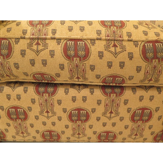 2000 - 2009 Stickley Native American Print Upholstered Club Chair For Sale - Image 5 of 11