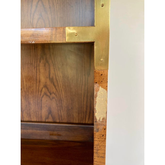 Brown Late 20th Century Dixie Campaign Desk With Hutch For Sale - Image 8 of 13