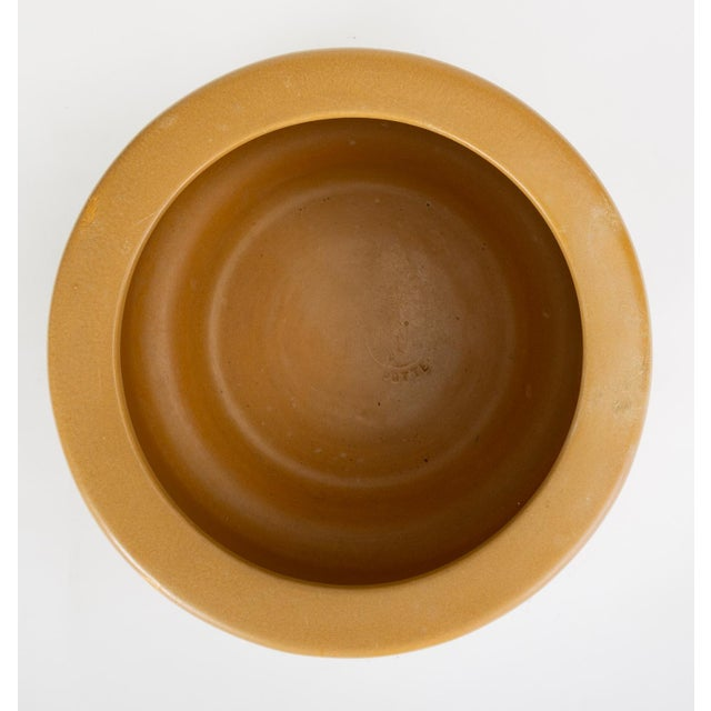 Cp-13 Tire Planter in Yellow Glaze by John Follis for Architectural Pottery For Sale - Image 9 of 10