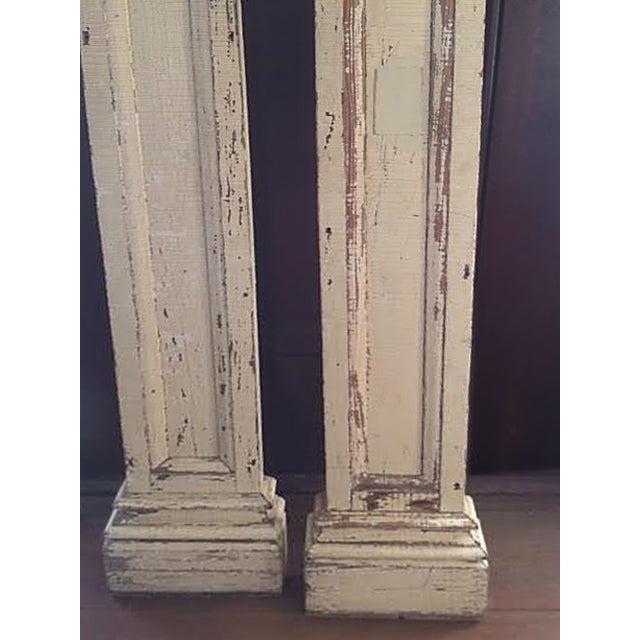 Antique Decorative Architectural Columns - Pair - Image 4 of 9