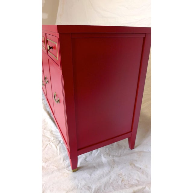 Mid-Century Cherry Red Sideboard - Image 4 of 10