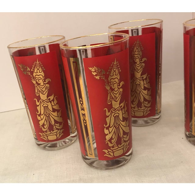 Glass Mid-Century Modern Culver Highball Glasses - Set of 8 For Sale - Image 7 of 10