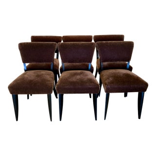 6 Art Deco Period Dining Chairs For Sale