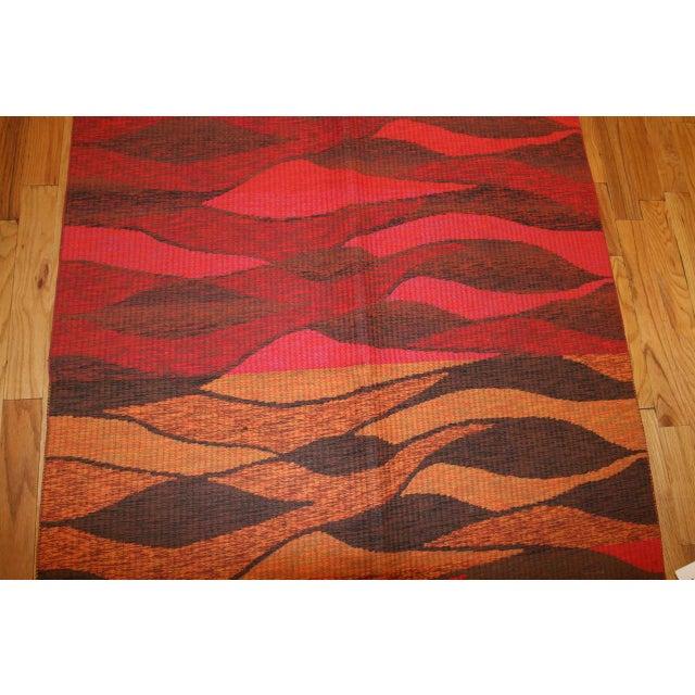 Vintage Double-Sided Swedish Kilim Carpet For Sale - Image 9 of 10