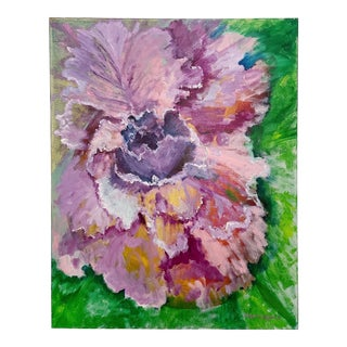 Floral Oil on Canvas Painting For Sale