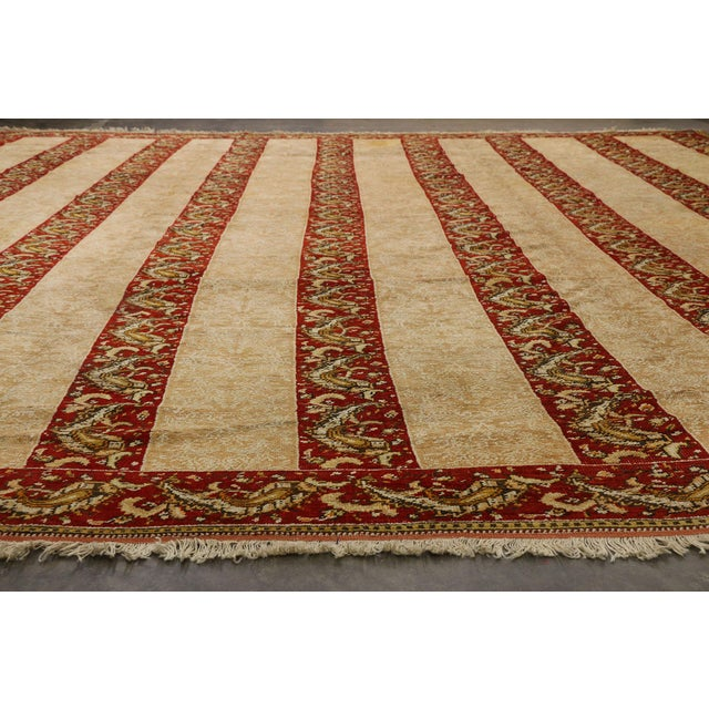 Textile Antique Turkish Oushak Rug - 16'00 X 15'07 For Sale - Image 7 of 10