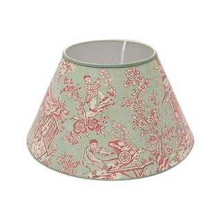 Custom Toile Linen Lampshade For Sale