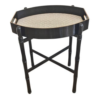 Ellipse Tray Table in Black For Sale