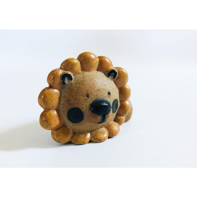 Mid-Century Modern Mid Century Pottery Lion Toothpick Holder For Sale - Image 3 of 7