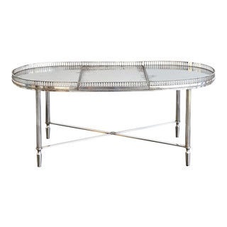 Maison Jansen, Paris, Fine Quality Silvered Coffee Table For Sale