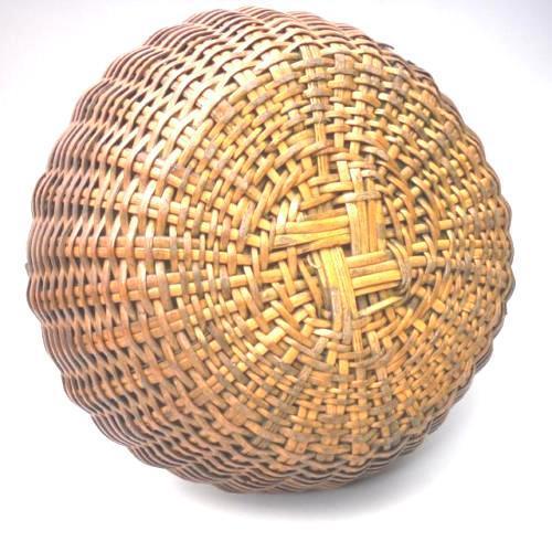 Wood Japanese Bamboo Basket Ikebana Flower Antique Vase Flower Sumikago For Sale - Image 7 of 13