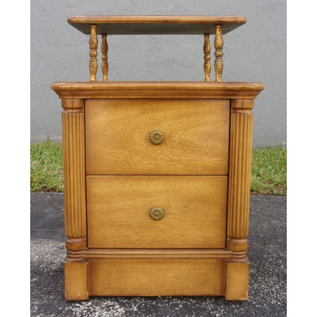 Vintage 2-Drawer Regency Style Nightstands - Pair - Image 10 of 10