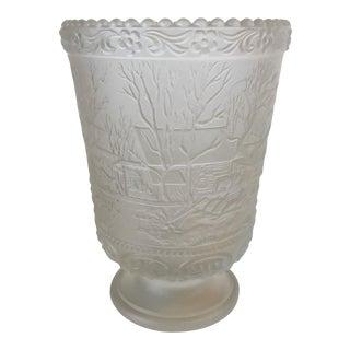 Signed Fenton Limited Ed. Christmas Vase For Sale