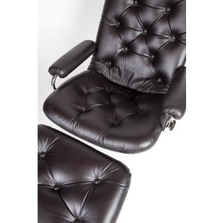 1960's Black Leather Ekornes Stressless Chair Preview
