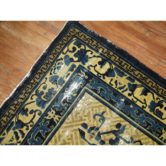 Overisze Antique Chinese Rug, 13'3'' X 17'9'' For Sale - Image 9 of 13