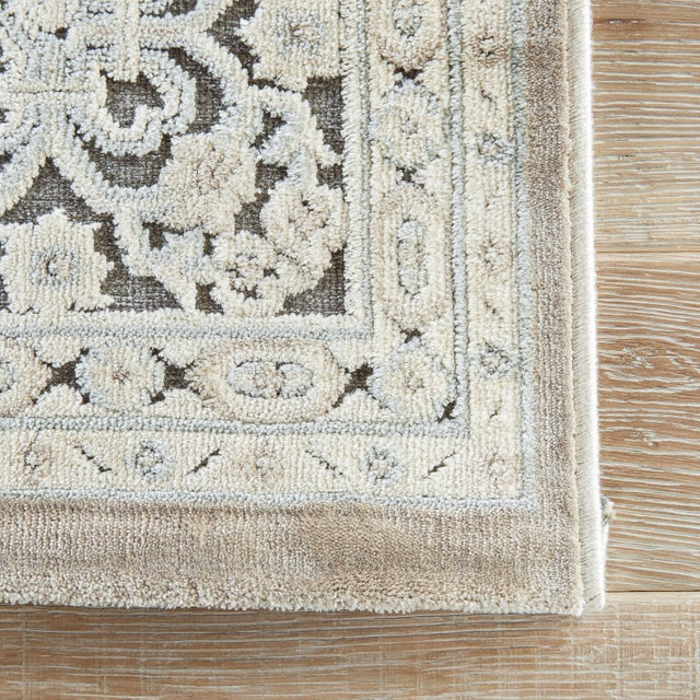 Jaipur Living Regal Damask Gray/ White Area Rug - 9′ × 12′ For Sale - Image 4 of 6