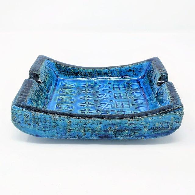 Bitossi Mid-Century Rimini Blue Aldo Londi Bitossi Ceramic Ashtray for Raymor For Sale - Image 4 of 8