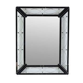 Vintage Modern-Style Rectangular Wall Mirror For Sale