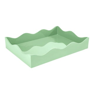 Medium Belles Rives Tray in Mint - Rita Konig for The Lacquer Company For Sale