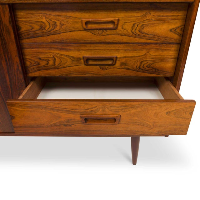 Vintage Danish Mid-Century Rosewood Four Drawer Credenza/Sideboard For Sale In San Francisco - Image 6 of 9