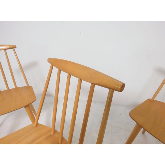 1970s Set of Four Folke Palsson for Fdb Mobler, Denmark Dining Chairs, Circa 1975 For Sale - Image 5 of 11