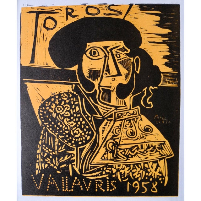 Beautifully executed in 1958, Picasso made an advertisement print for the town of Vallauris famous for it's ceramics in...
