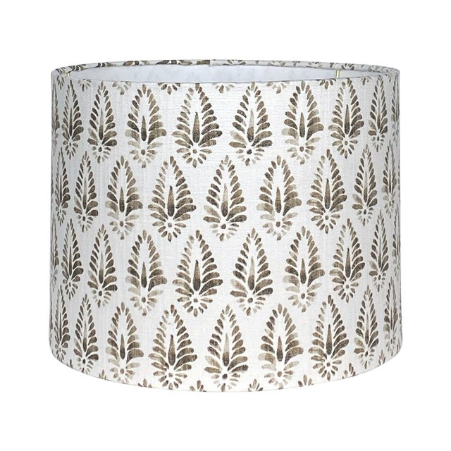 Brown Patterned Lamp Shade For Sale