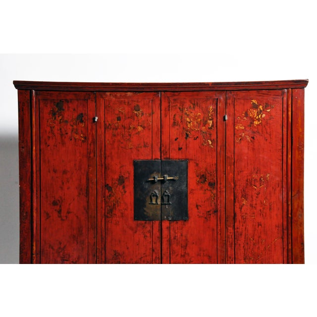 Chinese Wedding Cabinet With Square Lockplate For Sale - Image 4 of 13
