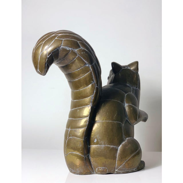 Rarely seen limited and early edition squirrel sculpture by Sergio Bustamante For SerMel Made in Mexico circa 1970's....