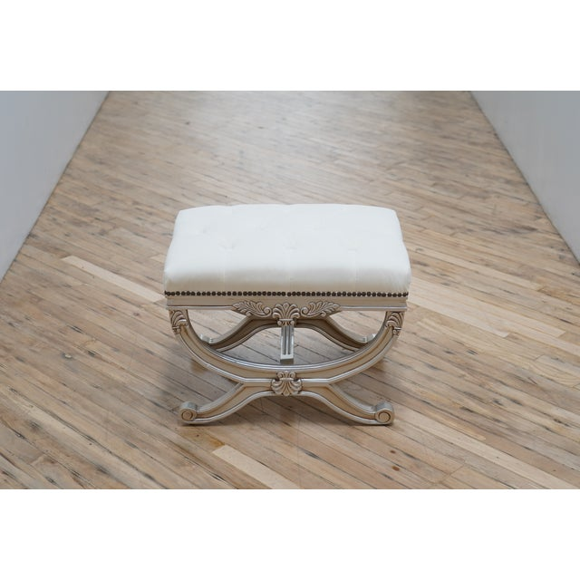 2010s Eliza Tufted Stool by Frontgate For Sale - Image 5 of 7