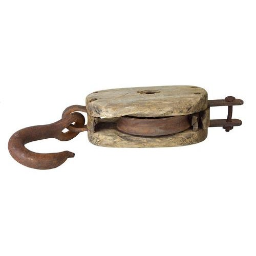 Vintage Rustic European Barn Pulley - Image 3 of 7