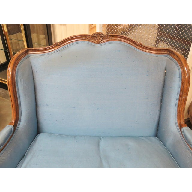 Louis XVI Louis XVI Style Upholstered Bergeres For Sale - Image 3 of 5