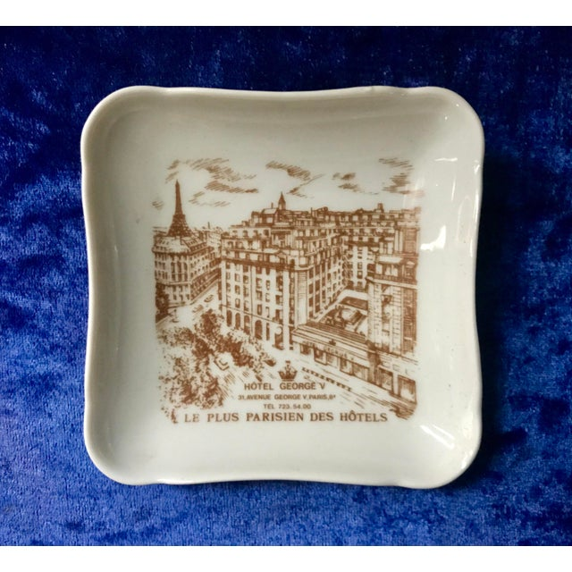 Brown Vintage Hotel George V Bonbon Pillivuyt Ceramic Trinket Soap Dish For Sale - Image 8 of 8