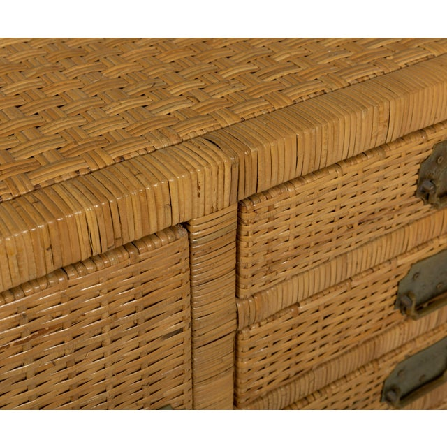 Chinese 1970s Vintage Rattan Credenza For Sale - Image 3 of 4