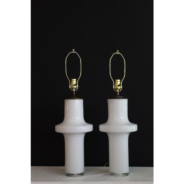 Vico Magistretti Style Murano Glass Table Lamps - a Pair For Sale - Image 11 of 13