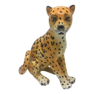 Vintage Ceramic Cheetah For Sale