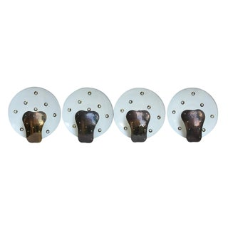 O Luce Bronze Disc Sconces - Set of 4