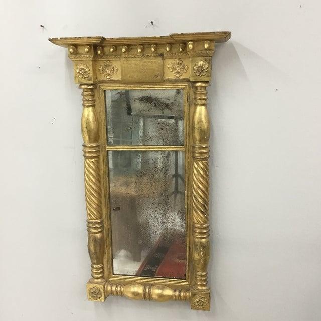 1820 Vintage American Empire Gilt Pier Mirror For Sale - Image 13 of 13