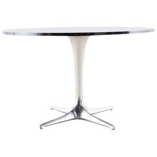 Chromcraft Midcentury Polished Aluminum Laminate Dining Table For Sale