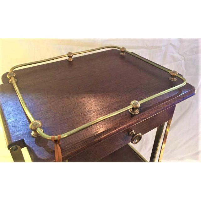 Kirby, Beard & Co. English Mahogany and Brass Cakestand For Sale - Image 5 of 7