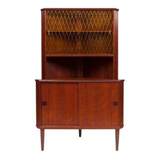 Vintage Danish Mid-Century Corner Cabinet/Hutch For Sale