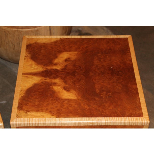 """1990s Vintage Joseph Kelly Custom Made """"Rorshach Bunching"""" Tables- A Pair For Sale - Image 4 of 11"""