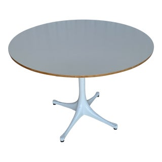 1950s Mid-Century Modern George Nelson Pedestal Side Table For Sale