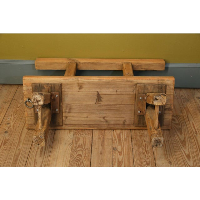 Chunky Oak Rustic Bench For Sale - Image 9 of 10