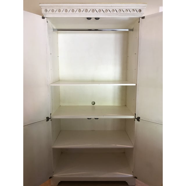 Shabby Chic Shabby Chic Oly Studio Elisabeth Cabinet Armoire For Sale - Image 3 of 8