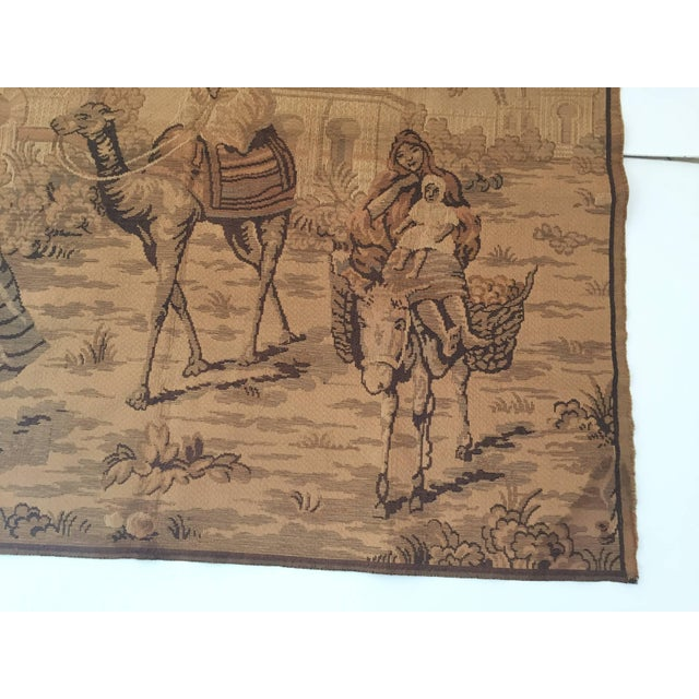 Figurative Tapestry With an 19th Century Orientalist Scene and Moorish Architecture For Sale - Image 3 of 10