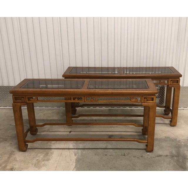 1970s Chinese Style Sofa Console Tables - a Pair For Sale - Image 11 of 12