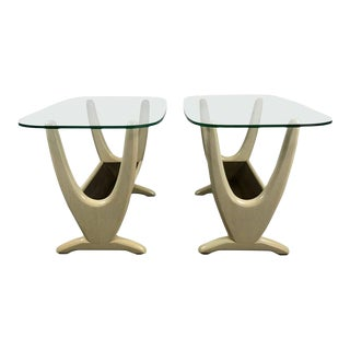 Mid-Century Modern End Tables With Planters by Adrian Pearsall - a Pair For Sale