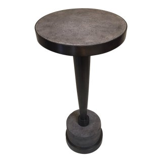 Industrial Concrete Side Table For Sale